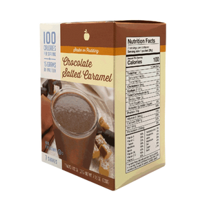Meal Replacement Chocolate Salted Caramel Shake - 100 Calories - Alevo Nutrition