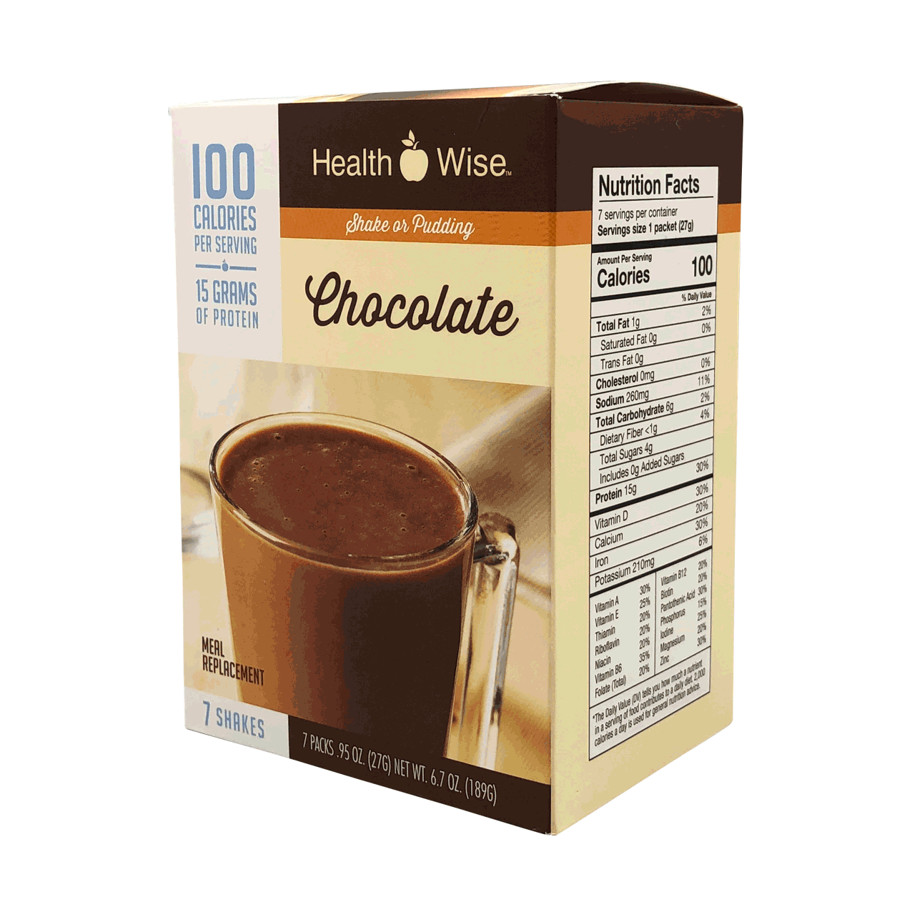 Meal Replacement Chocolate - 100 Calories