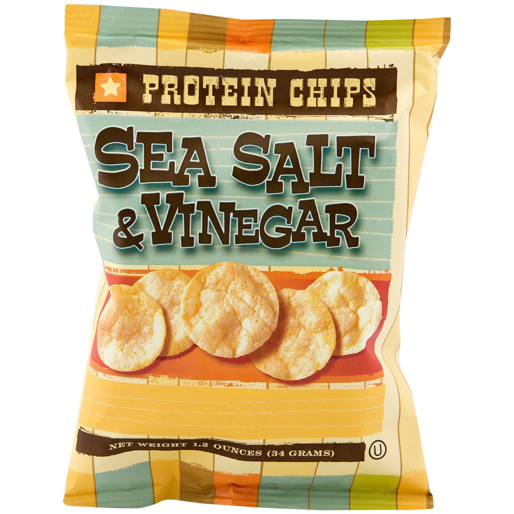 Sea Salt & Vinegar Protein Chips (6 Bags) - Alevo Nutrition