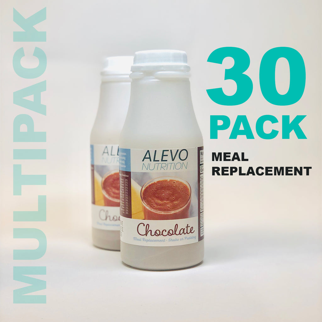 30 Bottles - 100 Calories Meal Replacement Shake CHOCOLATE - Alevo Nutrition