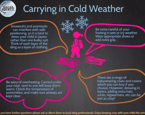 Baby carrying in the winter, top tips!