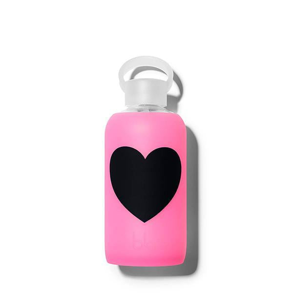 bkr Glass Water Bottle: 16oz BAMBI HEART 500 ML