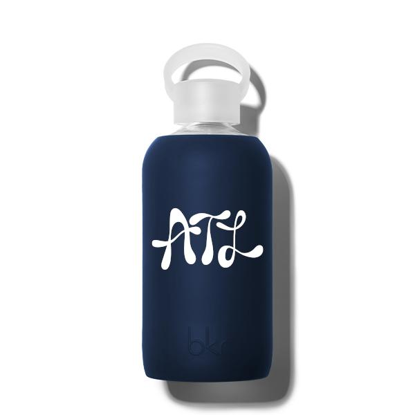 bkr Glass Water Bottle: 16oz FIFTH AVE. ATLANTA INITIALS 500 ML