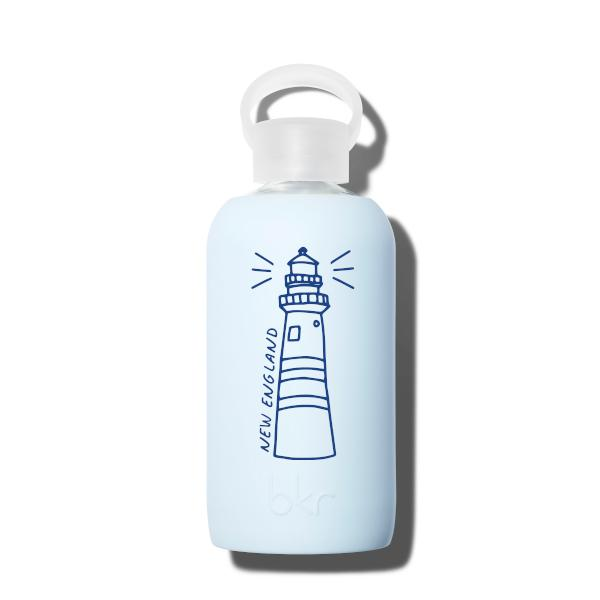 bkr Glass Water Bottle: 16oz GRACE NEW ENGLAND LIGHTHOUSE 500 ML