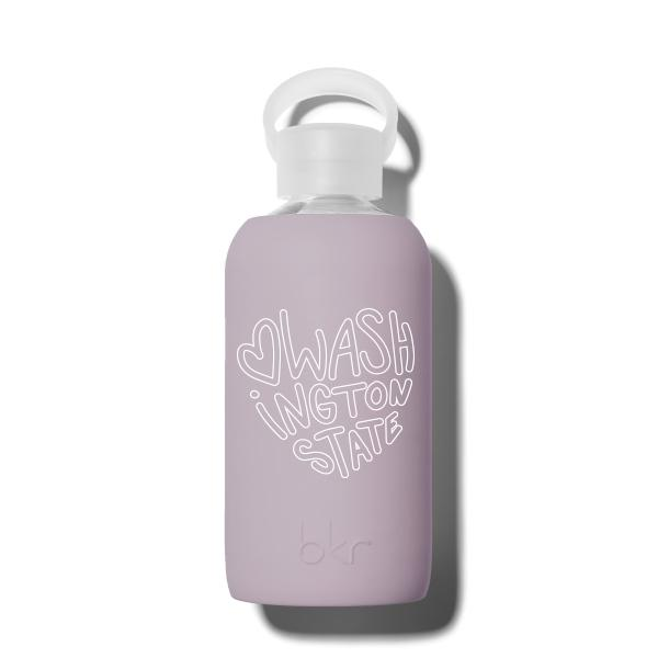 bkr Glass Water Bottle: 16oz SLOANE WASHINGTON HEART 500 ML