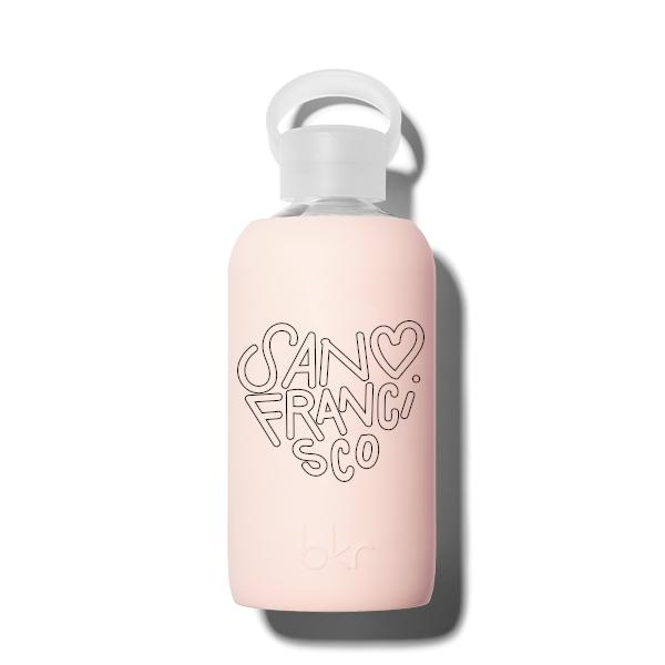 bkr Glass Water Bottle: 16oz TUTU SAN FRANCISCO HEART 500 ML