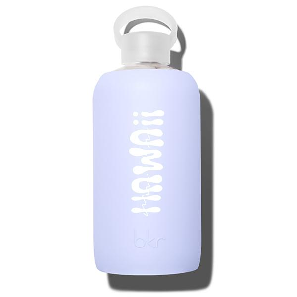 bkr Glass Water Bottle: 32oz JIL HAWAII PRINT 1L