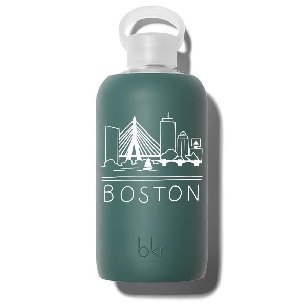 bkr Glass Water Bottle: 32oz JUNIPER BOSTON SKYLINE 1L