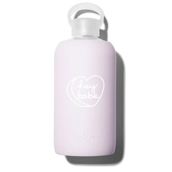 bkr Glass Water Bottle: 32oz LALA HEY BABE 1L