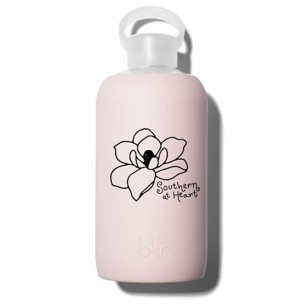 bkr Glass Water Bottle: 32oz LULU SOUTHERN MAGNOLIA 1L