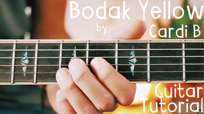 Bodak Yellow by Cardi B Guitar Lesson for Beginners