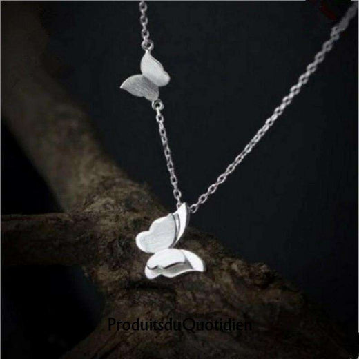 Collier Duo de Papillons