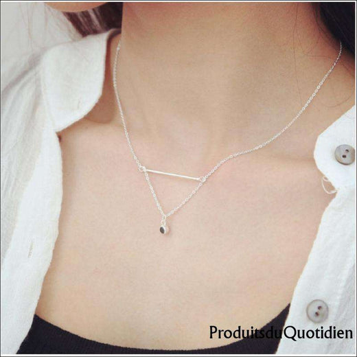 Collier Strass Triangle