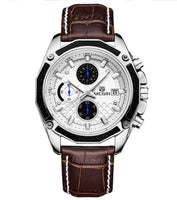 Montre Chronographe White/Brown