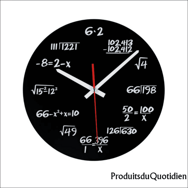 Horloge Murale Equation