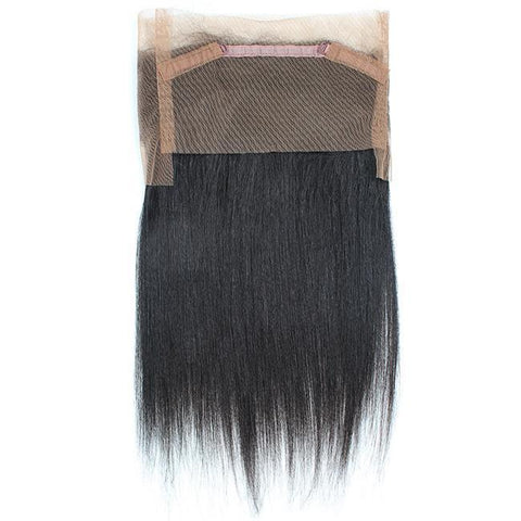 360° Lace Closure Brasilianisches 100% REMY Haar Straight