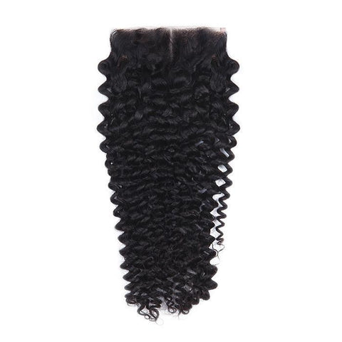 Tissage - Closure Brazilian REMY Hair Natural Deep Wave Middle Part
