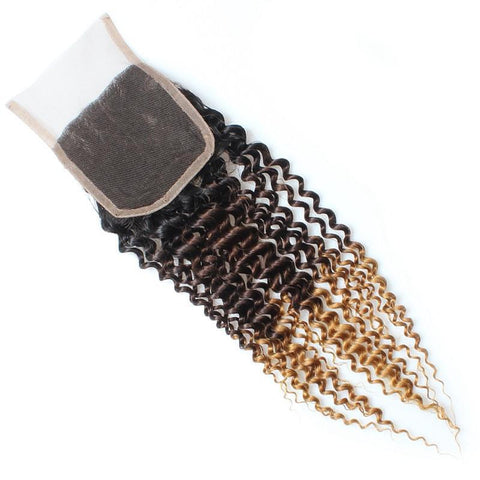 Tissage - Closure Brazilian REMY Hair Natural T3 Kinky Curly Free Style