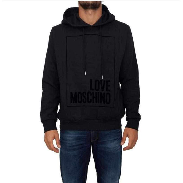 Black Hoodie Love Moschino With Print-1Style.ch
