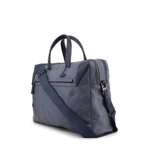 Blue Leather Briefcase Piquadro-1Style.ch