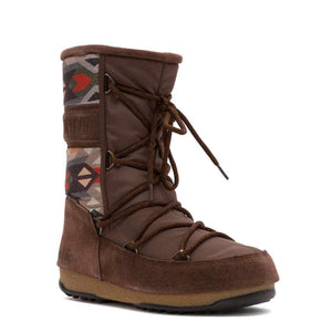 Brown High Boots Moon Boot-1Style.ch