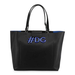 Dolce and Gabbana Black Leather Shoulder Bag-1Style.ch