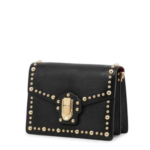 Dolce and Gabbana Leather Clutch Bag With Gold Points-1Style.ch