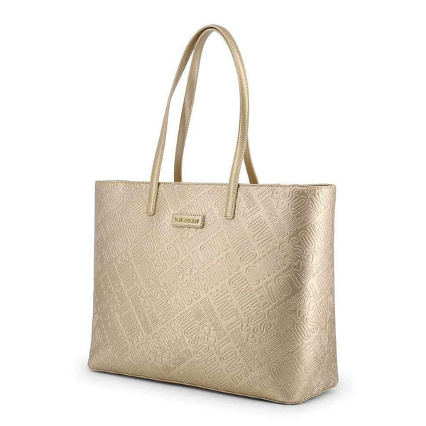 Gold Shopping Bag love Moschino-1Style.ch