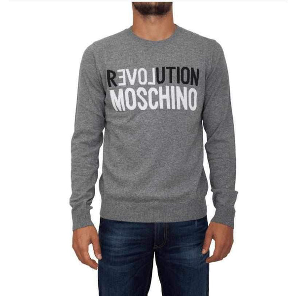 Men's Grey Sweater Love Moschino-1Style.ch