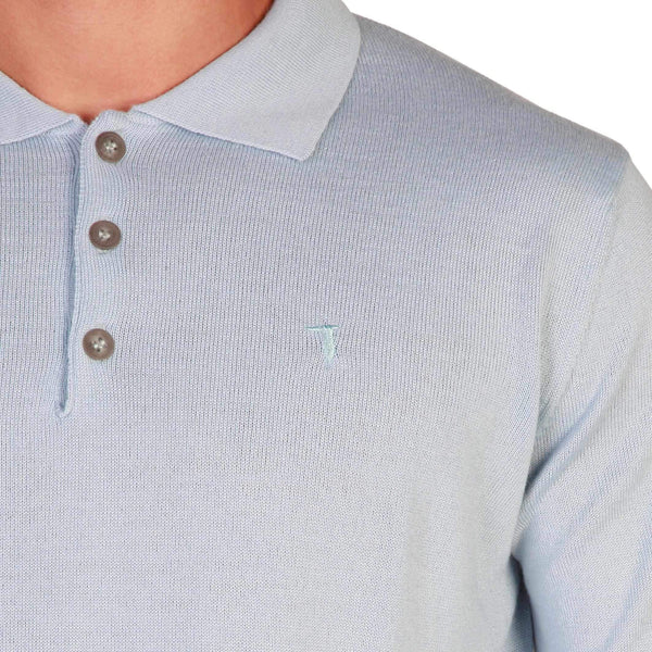 Men'S Long Sleeves Polo Shirt Trussardi-1Style.ch