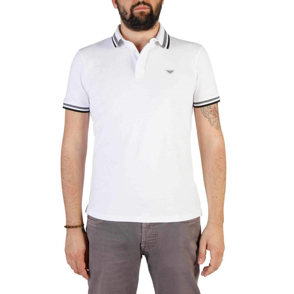 Men'S Polo Emporio Armani with Lines on Collar-1Style.ch