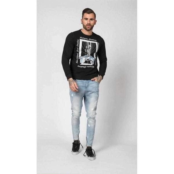 Men's Regular Cut Religion Tron Sweat-1Style.ch