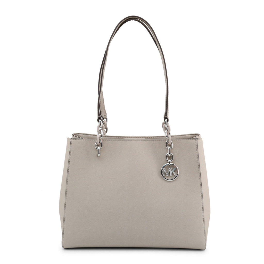 Michael Kors Leather Shoulder Bag Silver MK | Michael Kors Bags