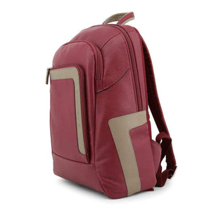 Piquadro Red Leather Men's Backpack-1Style.ch