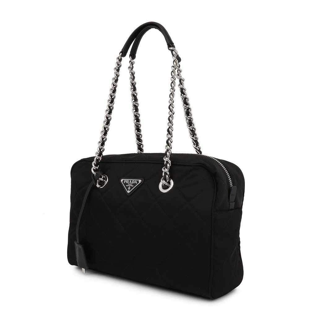 Prada Black Shoulder Bag in Fabric | Prada Luxury Bags-1Style.ch