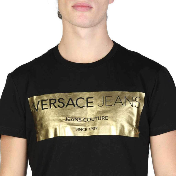 T-Shirt Versace Jeans With Gold Print Logo-1Style.ch