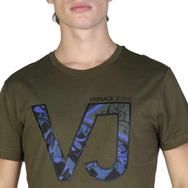 Versace Jeans Men's T-shirt With Printed VJ Letters-1Style.ch