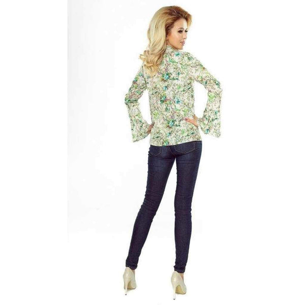 Women'S Blouse Numoco With Flared Sleeve-1Style.ch