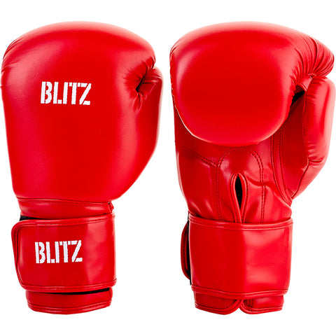 Blitz Training Boxing Gloves Red