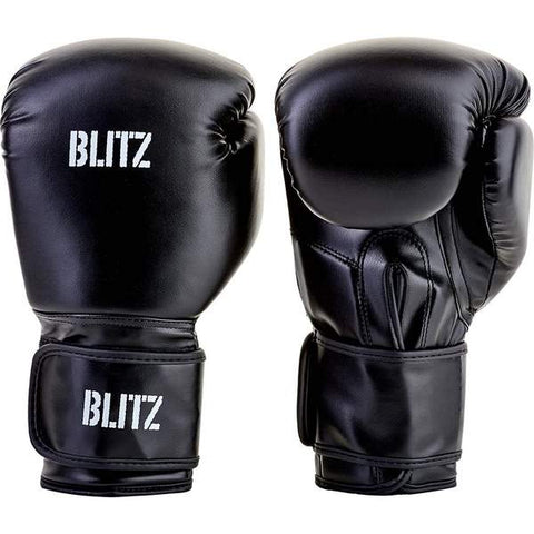 Blitz Training Boxing Gloves - Black