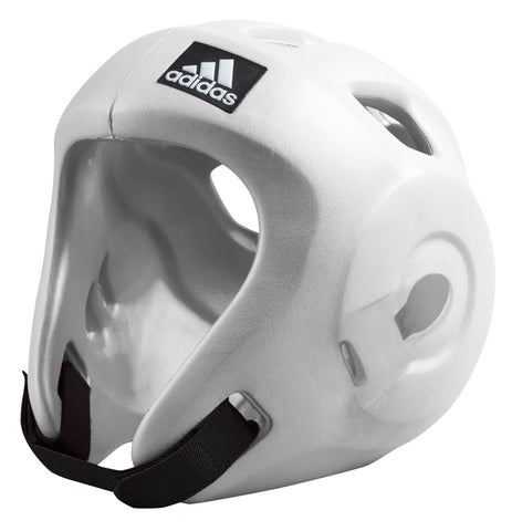 Adidas Adizero Speed Head Guard - White, WAKO/WTF Approved