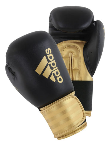 Adidas Hybrid 100 Boxing Gloves Black/Gold