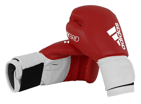 Adidas Hybrid 100 Boxing Gloves Red/White