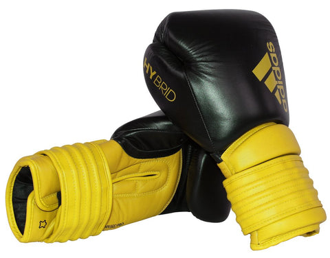 Adidas Hybrid 300 Boxing Gloves Black/Yellow
