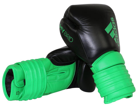 Adidas Hybrid 300 Boxing Gloves Black/Green