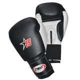 T-Sport Leather Boxing Gloves - Black/White