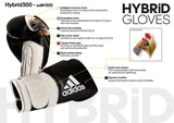 Adidas Hybrid 300 Boxing Gloves Gold/Red