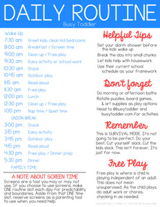 Daily Schedule While Stuck at Home with Your Children During COVID-19