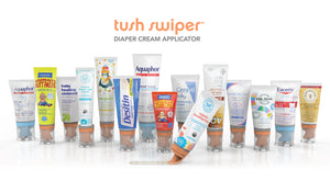 What creams are compatible with the Tush Swiper?