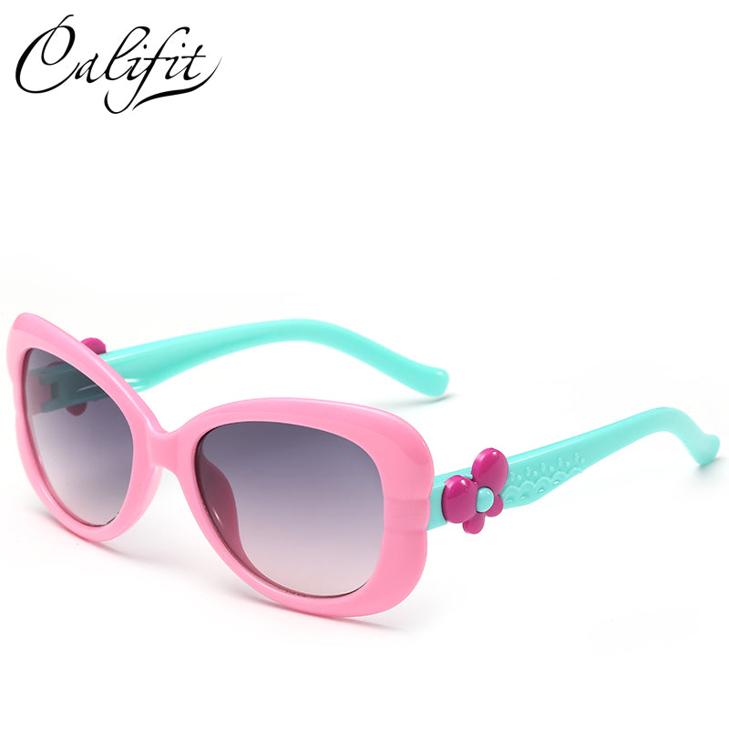 Children Butterfly sunglasses kids Coating glasses UV400 Shades Points sun cute Eyewear Girl Fashion sun glasses Oculos de sol